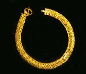"""7""""nice&unique 24K gold filled bracelet bangle 77"""