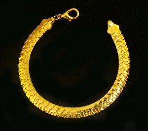 """7.4""""nice&unique 24K gold filled bracelet bangle 79"""
