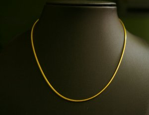 "16.2"" neat &worthy 24Kgold filled necklace 17"
