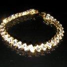 "6.8""nice unique outstanding cz 24K gold filled bracelet 14"