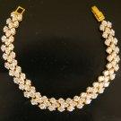 """7""""very Luxuary cz gold filled bracelet 16"""