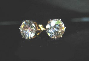 charming cz 24K gold filled pin earrings05