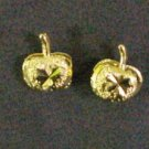 tiny lovely apple all 24K gold filled earrings