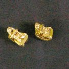 24K gold filled earrings tiny belt earrings