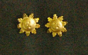 smiling sun tiny 24K gold filled earrings