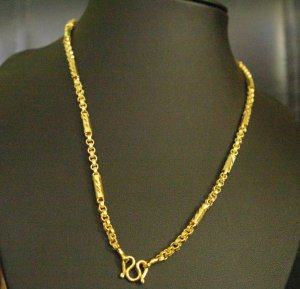 "20.4"" elegnat handmade 24K gold filled necklace 82"