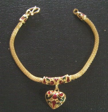"fascinated straberry 7.2"" 18K gold filled bracelet bangle 130"