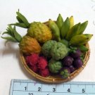 lhandmade miniature fruit in basket set 1 (not glued)