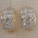 look like real cz 24K  gold filled earrings 24