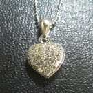 beautiful alloy necklace and white crystal heart