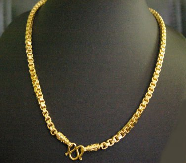 "25.6"" very beautiful chain 24K gold filled necklace 84"