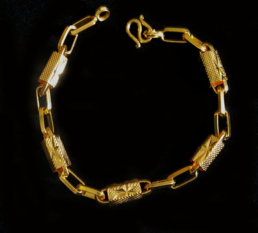 7.7 Inch sand and rod 24K gold filled bracelet bangle 73