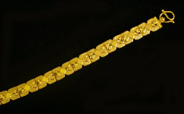 7.3 Inch unique lovely sand pattern 24K gold filled bracelet 49