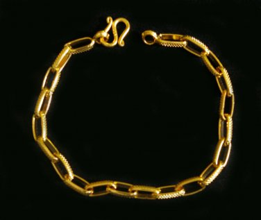 7.5 Inch classic sand chain 24K gold filled bracelet 88