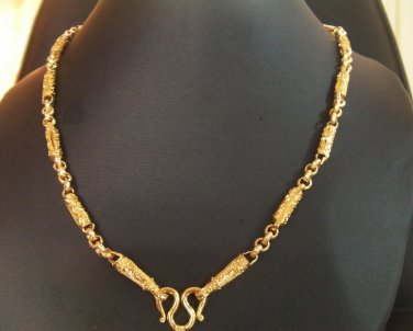 24.8 Inch smart sand chain and rod 24K gold filled necklace 124