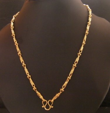 24 Inch unique fascinated 24K gold filled necklace 109