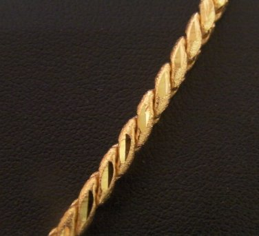 24.4 Inch nice rope pattern 100% 24K gold filled necklace 127
