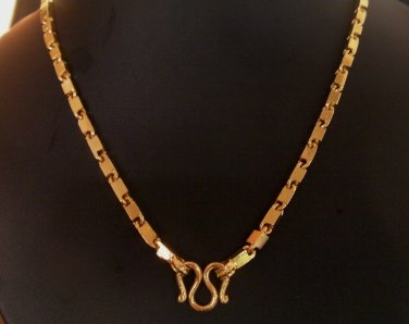 20 Inch unique pattern 100% 24K gold filled necklace 116