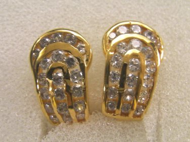 Luxuary fascinated Hi quality CZ 100% 24K gold filled earrings 33