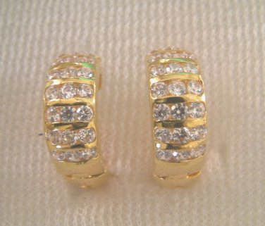 sweet and luxuary cz 24K  gold filled earrings 034