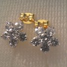 lovely nice shinny flower shape 24K gold filled earrings 19
