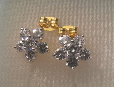 lovely nice shinny flower shape 24K gold filled earrings 19