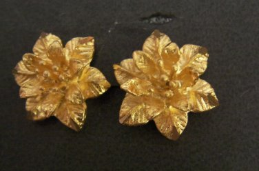 Wonderful christmas flower earrings all 24K gold filled earrings
