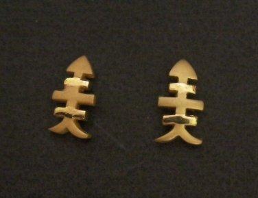 nice herringbone pattern all 24K gold filled earrings