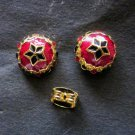 lovelybutton enamel 24K gold filled earrings  earrings