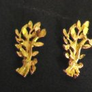 mini brance pattern 24K gold filled earrings  earrings