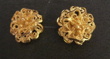 Sale nice and sweet flower pattern  24K gold filled earrings