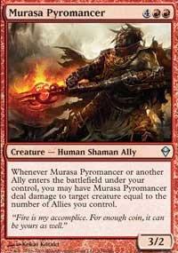 4x Zendikar Murasa Pyromancer (playset)