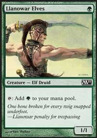 4 x Magic 2011 Llanowar Elves (playset)