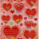 10 Big sheet Heart and Love Sticker Buy 2 lots Bonus 1 lot #BL065