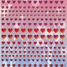 10 Big sheets Heart and Love Stickers Buy 2 lots Bonus 1 lot  #BL309