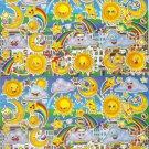 10 Big sheets Sun Moon Star Cloud Stickers Buy 2 lots Bonus 1 lot #SUN B118