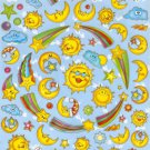 10 Big sheets Sun Moon Star Cloud Stickers Buy 2 lots Bonus 1 lot #SUN TM0036