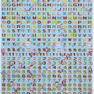 10 Big sheets Letter Alphabet Buy 2 lots Bonus 1 lot  #TM0024