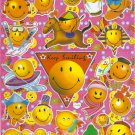 10 Big sheets Smiley Face Stickers Buy 2 lots Bonus 1 lot  #SF C033