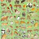 10 Big sheets Zoo Animal Stickers Buy 2 lots Bonus 1 lot  #TM0200