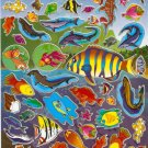 10 Big sheets Cartoon Sea Animal Fish Buy 2 lots Bonus 1 lot  #D042