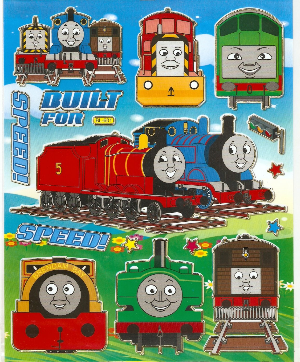 10 Big sheets Thomas Train Sticker Buy 2 lots Bonus 1 #BL601