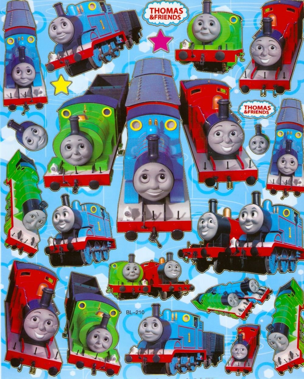 10 Big sheets Thomas Train Sticker Buy 2 lots Bonus 1 #BL210