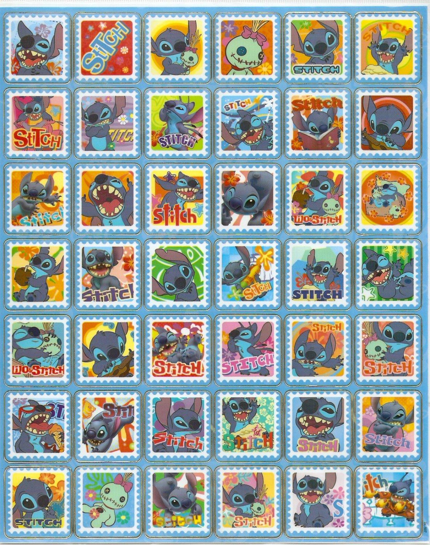 10 Big sheets Stitch Sticker Buy 2 lots Bonus 1 #BL507