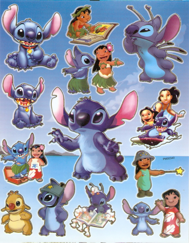 10 Big sheets Stitch Sticker Buy 2 lots Bonus 1 #PM00340