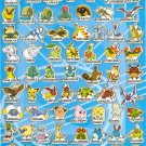 10 Big sheets Pokemon Sticker Buy 2 lots Bonus 1 #E060