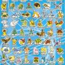 10 Big sheets Pokemon Sticker Buy 2 lots Bonus 1 #E060