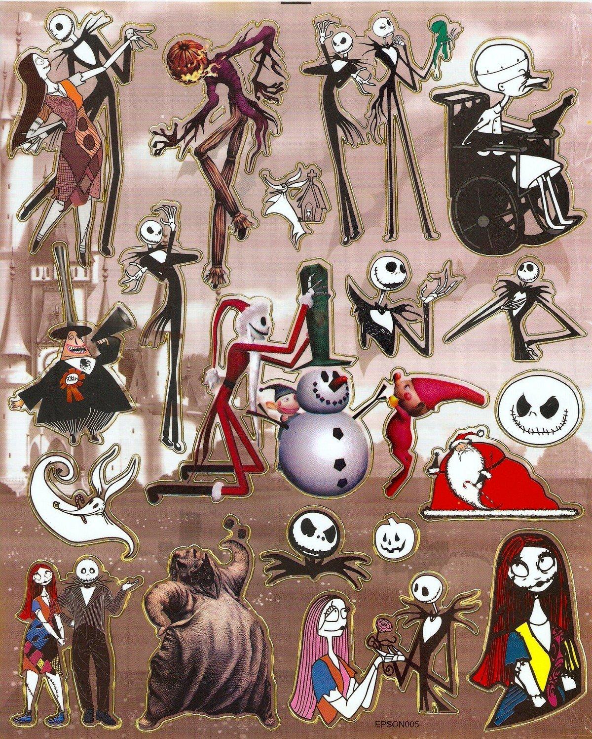 10 Big sheets Nightmare Before Christmas Sticker Buy 2 lots Bonus 1 #NBC EPSON005