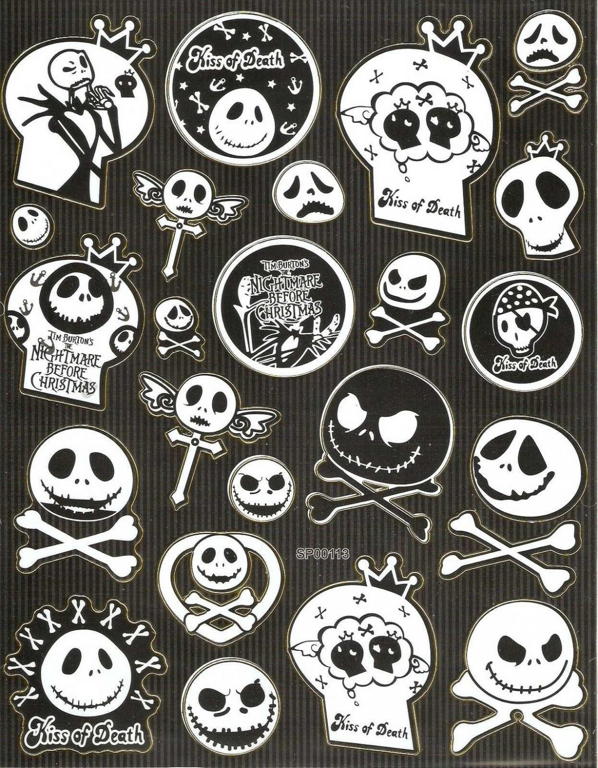 10 Big sheets Nightmare Before Christmas Sticker Buy 2 lots Bonus 1 #NBC SP00113