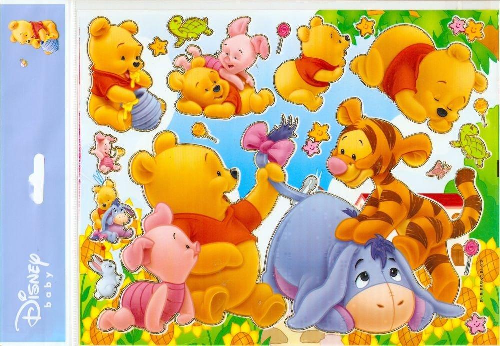10 Big sheets Baby Pooh Sticker Buy 2 lots Bonus 1 #WP BL012